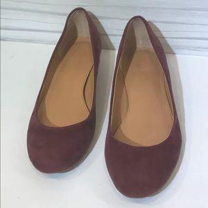 J Crew Burgundy Slip On Shoes 8.5